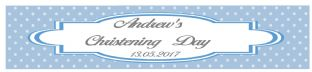 Dark Blue Christening Banner
